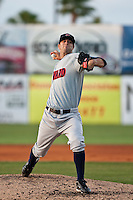 Michael Fiers (29) of the Brevard County Manatees during a game vs. the Daytona Beach Cubs May 25 2010 at Jackie Robinson Ballpark in Daytona Beach, Florida. Daytona won the game against Brevard by the score of 5-3.  Photo By Scott Jontes/Four Seam Images