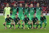 Slovenia line up before the FIFA World Cup 2018 Qualifying Group F match between England and Slovenia at Wembley Stadium on October 5th 2017 in London, England. Equipe<br /> Calcio Inghilterra - Slovenia Qualificazioni Mondiali <br /> Foto Phcimages/Panoramic/insidefoto
