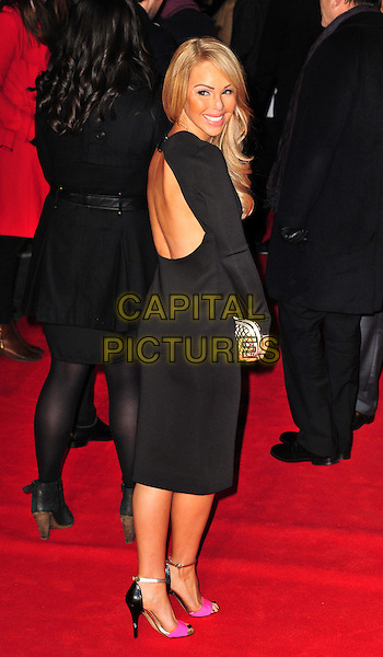 Katie Piper.attended the 'Flight' UK film premiere, Empire Cinema, Leicester Square, London, England, 17th January 2013..full length black cut out back rear behind dress looking over shoulder .CAP/BF.©Bob Fidgeon/Capital Pictures.