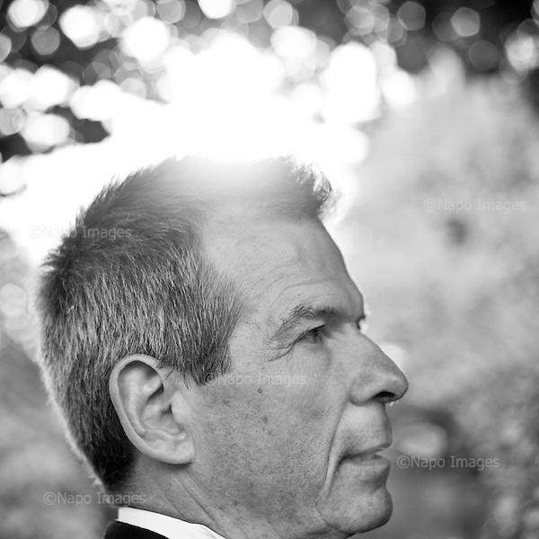 """WARSAW, POLAND, AUGUST 2012:.Aleksander Makowski , former Polish intelligence officer. He recently wrote a book """"Tracing Bin Laden"""".(Photo by Piotr Malecki / Napo Images)..WARSZAWA, SIERPIEN 2012:.Aleksander Makowski , byly funcjonariusz sluzb wywiadu PRL i RP. Makowski napisal ksiazke pt. """"Tropiac Bin Ladena"""".Warszawa, park Lazienkowski,  13/08/2012.Fot: Piotr Malecki / Napo Images"""