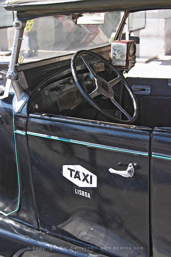 old taxi praca do comercio lisbon portugal