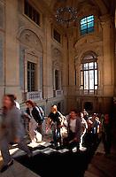 Italien, Piemont, Treppenhaus von Palazzo Madame in Turin (Torino)
