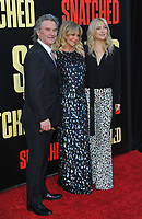www.acepixs.com<br /> <br /> May 10 2017, LA<br /> <br /> (L-R) Kurt Russell, Goldie Hawn and Kate Hudson arriving at the premiere of 'Snatched' at the Regency Village Theatre on May 10, 2017 in Westwood, California<br /> <br /> By Line: Peter West/ACE Pictures<br /> <br /> <br /> ACE Pictures Inc<br /> Tel: 6467670430<br /> Email: info@acepixs.com<br /> www.acepixs.com