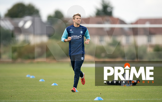 Wycombe Wanderers Analyst Josh Hart during the behind closed doors friendly between Brentford B and Wycombe Wanderers at Brentford Football Club Training Ground & Academy, 100 Jersey Road, TW5 0TP, United Kingdom on 3 September 2019. Photo by Andy Rowland.