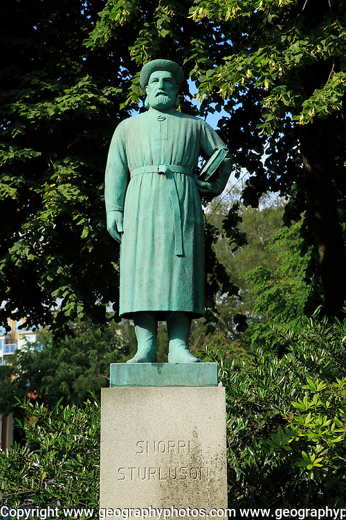 Snorri Sturluson, Icelandic historian, poet, and politician, statue in city of Bergen, Norway lived 1179 – 1241