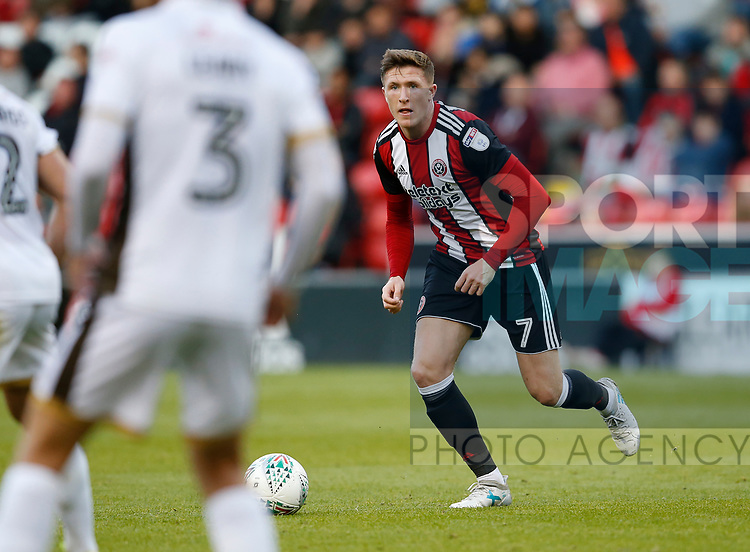 John Lundstram of Sheffield Utd  during the Carabao Cup First Round match at Bramall Lane Stadium, Sheffield. Picture date: August 9th 2017. Pic credit should read: Simon Bellis/Sportimage
