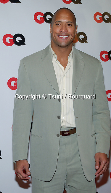 """Dwayne Johnson (The Rock) arriving at the """" GQ 4th HOLLYWOOD ISSUE """" at the White Lotus in Los Angeles. February 20, 2003.          -            JohnsonDwayne28.jpg"""