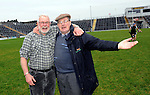 30-11-2014: Ardfert Martin Ferris and Jim Morris celebrate after their victory over Valley Rovers in the Munster GAA Club Intermediate Football final in Killarney on Saturday.<br /> Picture by Don MacMonagle XXJOB