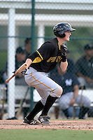 Pittsburgh Pirates second baseman Erich Weiss (15) during an Instructional League game against the New York Yankees on September 18, 2014 at the Pirate City in Bradenton, Florida.  (Mike Janes/Four Seam Images)