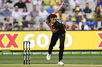 1st November 2019; Melbourne Cricket Ground, Melbourne, Victoria, Australia; International T20 Cricket, Australia versus Sri Lanka; Mitchell Starc of Australia bowls - Editorial Use