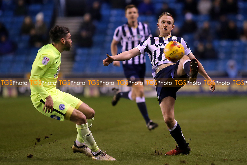 Shane Ferguson of Millwall in action during Millwall vs Peterborough United, Sky Bet EFL League 1 Football at The Den on 28th February 2017