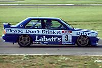 Final round of the 1991 British Touring Car Championship. #9 Laurence Bristow (GBR). BMW Team Labatt's. BMW M3.