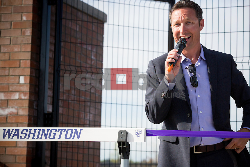 The opening of the University of Washington track on Friday April 26, 2013.(Photo by Scott Eklund /Red Box Pictures)