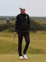 Robert Karlsson (SWE) on the 14th green during Round 4 of the 2015 Alfred Dunhill Links Championship at the Old Course in St. Andrews in Scotland on 4/10/15.<br /> Picture: Thos Caffrey | Golffile