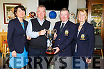 Lady Captain Fionnuala Mann, Captain John O'Brien, Michael O'Connell (winner of the Captains Prize) and Lady President Irene Prendergast at the Tralee Golf Club's awards evening in the club on Sunday.