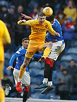 16.02.2020 Rangers v Livingston: Lyndon Dykes and Connor Goldson