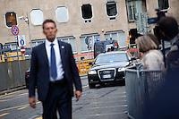 Milano: Berlusconi arriva in tribunale per l'udienza del processo Mills