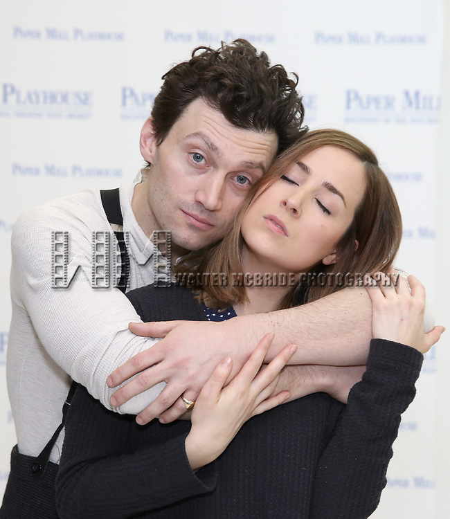 """Bryce Pinkham and Hannah Elless during the meet the cast photo call for the Paper Mill Playhouse production of  """"Benny & Joon"""" at Baza Dance Studios on 3/21/2019 in New York City."""