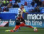 Caolan Lavery of Sheffield Utd and Jay Spearing of Bolton during the FA Cup Second round match at the Macron Stadium, Bolton. Picture date: December 4th, 2016. Pic Simon Bellis/Sportimage