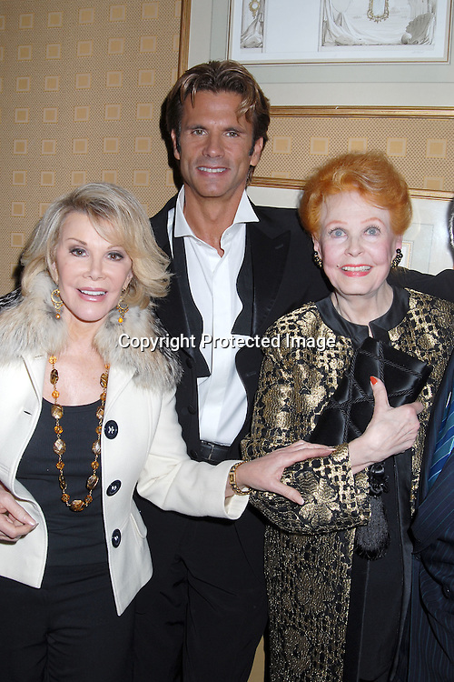 Joan Rivers, Lorenzo Lamas, mom Arlene Dahl  ..at Lorenzo Lamas's after party after his New York Nightclub debut at Feinsteins at The Regency on October 31, 2006. He will be appearing until November 11, 2006. ..Robin Platzer, Twin Images