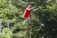Klaus Huber beim Arschbombenwettbewerb - Mörfelden-Walldorf 28.06.2019: 6. School's Out for the Summer Party