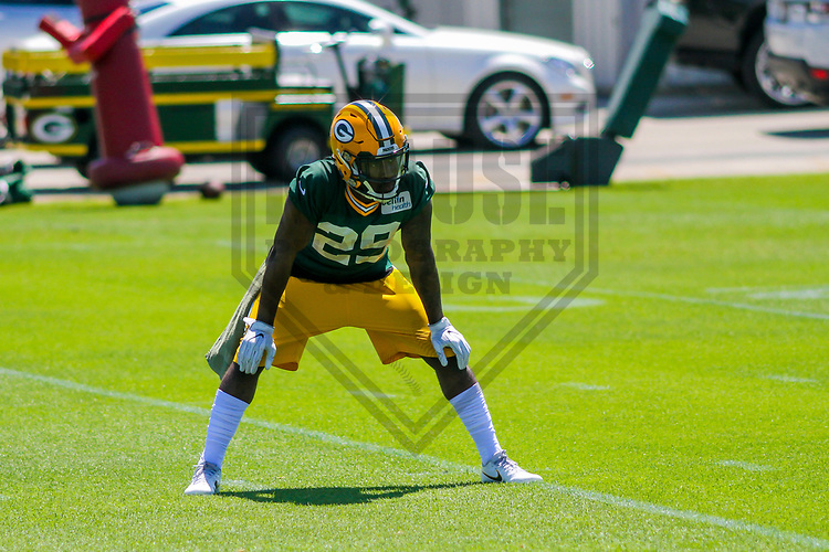 Green Bay Packers safety Kentrell Brice (29) during a minicamp practice on June 15, 2017 at Clarke Hinkle Field in Green Bay, Wisconsin.  (Brad Krause/Krause Sports Photography)