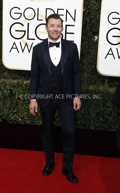 www.acepixs.com<br /> <br /> January 8 2017, LA<br /> <br /> Joel Edgerton arriving at the 74th Annual Golden Globe Awards at the Beverly Hilton Hotel on January 8, 2017 in Beverly Hills, California.<br /> <br /> By Line: Famous/ACE Pictures<br /> <br /> <br /> ACE Pictures Inc<br /> Tel: 6467670430<br /> Email: info@acepixs.com<br /> www.acepixs.com