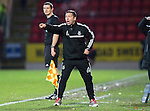 St Johnstone v Aberdeen.....07.12.13    SPFL<br /> Derek McInnes shouts instructions<br /> Picture by Graeme Hart.<br /> Copyright Perthshire Picture Agency<br /> Tel: 01738 623350  Mobile: 07990 594431