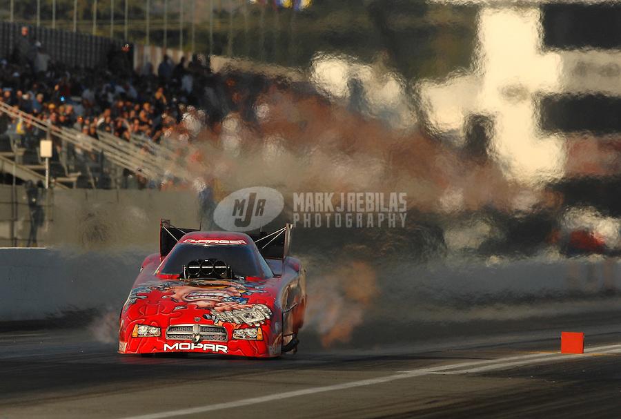 Nov 3, 2007; Pomona, CA, USA; NHRA funny car driver Gary Scelzi during qualifying for the Auto Club Finals at Auto Club Raceway at Pomona. Mandatory Credit: Mark J. Rebilas-US PRESSWIRE