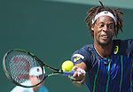 March 31 2016: Gael Monfils (FRA) loses to Kei Nishikori (JPN) 4-6, 6-3, 7-6, at the Miami Open being played at Crandon Park Tennis Center in Miami, Key Biscayne, Florida. ©Karla Kinne/Tennisclix/Cal Sports Media