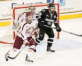 Patch Alber (BC - 3), Chris Venti (BC - 30), Andy Balysky (PC - 33) - The Boston College Eagles defeated the Providence College Friars 7-0 on Saturday, February 25, 2012, at Kelley Rink at Conte Forum in Chestnut Hill, Massachusetts.