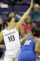 SEATTLE, WA - DECEMBER 18: Washington's Kelsey Plum against Savannah State.  Washington won 87-36 over Savannah State at Alaska Airlines Arena in Seattle, WA.
