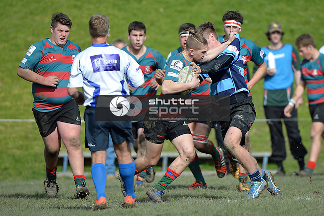 NELSON, NEW ZEALAND - AUGUST 6: UC Championship, Nelson College v Lincoln HS 6.8.16, Nelson College 1, August 6, 2016, Nelson, New Zealand. (Photo by: Barry Whitnall Shuttersport Limited)