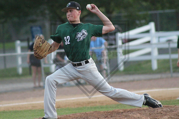 ROCKFORD - June 2012: Nick Lumley (32) of the Rockford Foresters during a game against the Southland Vikings on June 8, 2012 at Marinelli Field in Rockford, Illinois. (Photo by Brad Krause). ..