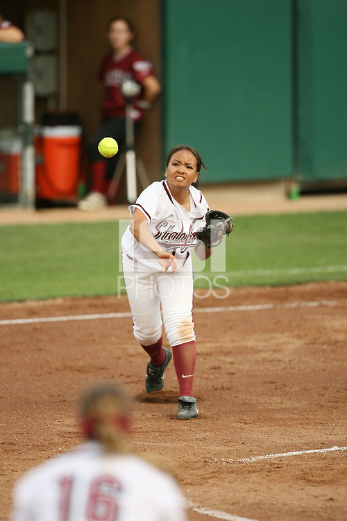 28 October 2005: Tricia Aggabao during Stanford's game against Santa Clara at Smith Family Stadium in Stanford, CA.