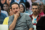 Pablo Iglesias, secretary general of Podemos; in a meeting of Podemos with people in Madrid where they exchange points of view, listen to concerns and draw shared horizons.<br /> October 5, 2019. <br /> (ALTERPHOTOS/David Jar)