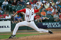 Muecke, Josh 3994.jpg. Pacific Coast League. Nashville Sounds at Round Rock Express. Dell Diamond. June 28th, 2008 in Round Rock Texas. Photo by Andrew Woolley.