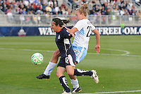 Washington Freedom forward Lisa De Vanna (17) tries to keep control of the ball against Chicago Red Stars defender Nicole Krzysik (23)  Washington Freedom tied  Chicago Red Stars 1-1  at The Maryland SoccerPlex, Saturday April 11, 2009.