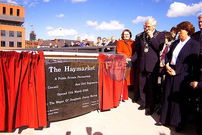 Mayor Jimmy Molroy Opening The Nwe Haymarket Bridge...Pic Tony Campbell/Newsfile
