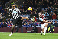 Newcastle United's Kenedy and Burnley's Charlie Taylor<br /> <br /> Photographer Rachel Holborn/CameraSport<br /> <br /> The Premier League - Burnley v Newcastle United - Monday 26th November 2018 - Turf Moor - Burnley<br /> <br /> World Copyright &copy; 2018 CameraSport. All rights reserved. 43 Linden Ave. Countesthorpe. Leicester. England. LE8 5PG - Tel: +44 (0) 116 277 4147 - admin@camerasport.com - www.camerasport.com