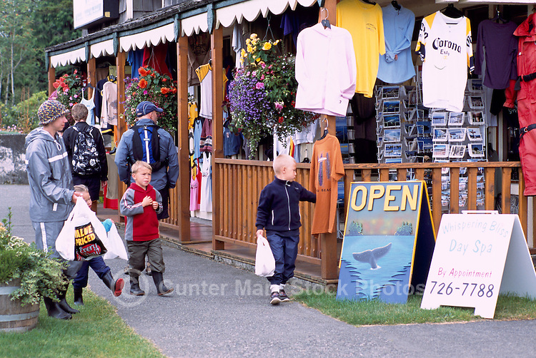 Tourist Gift and Clothing Shop in Ucluelet, on Vancouver Island, British Columbia, Canada