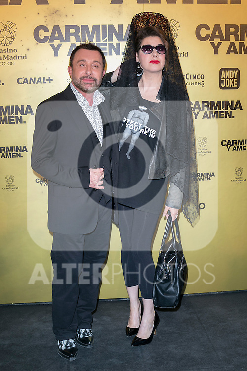 "Jose Manuel Parada and Pepa Charro  attend the Premiere of the movie ""Carmina y Amen"" at the Callao Cinema in Madrid, Spain. April 28, 2014. (ALTERPHOTOS/Carlos Dafonte)"