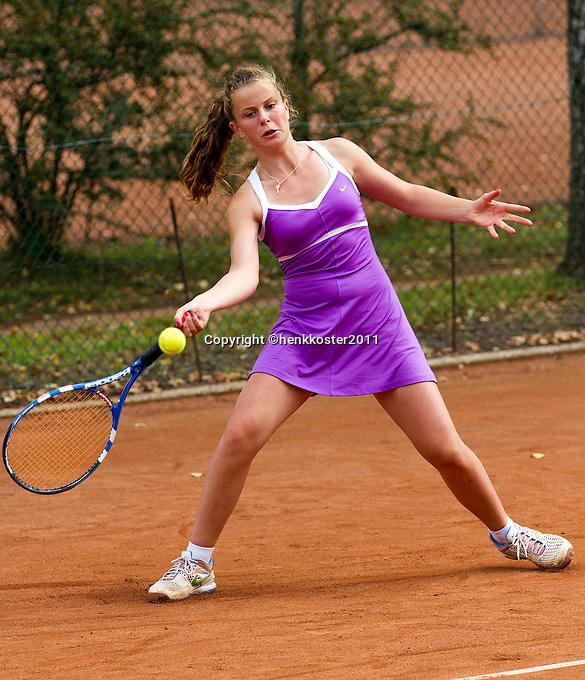 10-08-11, Tennis, Hillegom, Nationale Jeugd Kampioenschappen, NJK, Margo Verbeet