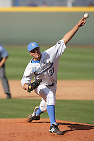 April 3 2010: Matt Grace of the UCLA Bruins during game against the Stanford Cardinal at UCLA in Los Angeles,CA.  Photo by Larry Goren/Four Seam Images