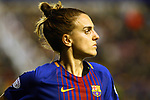 UEFA Women's Champions League 2017/2018.<br /> Quarter Finals.<br /> FC Barcelona vs Olympique Lyonnais: 0-1.<br /> Melanie Serrano.