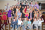 KEY TO THE DOOR: Stephanie Horan, Ballymacelligott (seated centre) enjoying a great time celebrating her 21st birthday with a large group of family and friends at the Strand Road clubhouse, Tralee on Saturday.