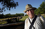 Dave Lewis, a retired college professor, now spends his time volunteering at Pea Ridge National Military Park, where he adorns Civil War era clothing while giving historial talks about the park.