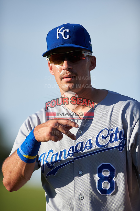 AZL Royals Jimmy Govern (8) before an Arizona League game against the AZL Cubs 1 on June 30, 2019 at Sloan Park in Mesa, Arizona. AZL Royals defeated the AZL Cubs 1 9-5. (Zachary Lucy / Four Seam Images)