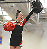 Alexa Diamond and the the Mt. Sinai varsity cheerleaders perform during an invitational competition held at Smithtown High School West on Saturday, Dec. 17, 2016.