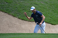 Martin Kaymer (GER) waves to the applause of the gallery after hitting up tight from the trap on 15 during day 2 of the Valero Texas Open, at the TPC San Antonio Oaks Course, San Antonio, Texas, USA. 4/5/2019.<br /> Picture: Golffile | Ken Murray<br /> <br /> <br /> All photo usage must carry mandatory copyright credit (© Golffile | Ken Murray)